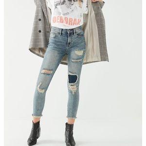 BDG distress crop Twig high rise skinny jeans.
